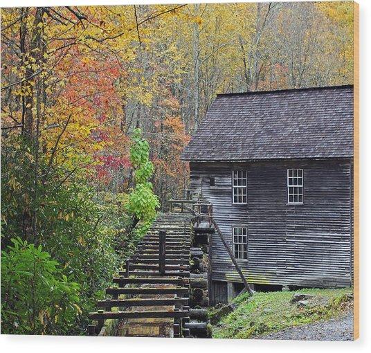 Smokey Mountain Grist Mill Wood Print