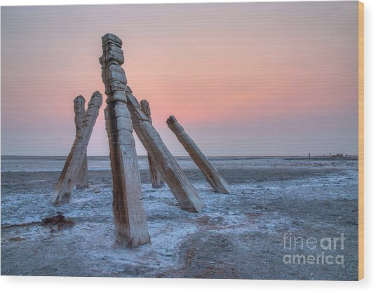 Wood Print featuring the photograph Smokey Sunset by Spencer Baugh