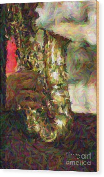 Smokin Jazz Wood Print