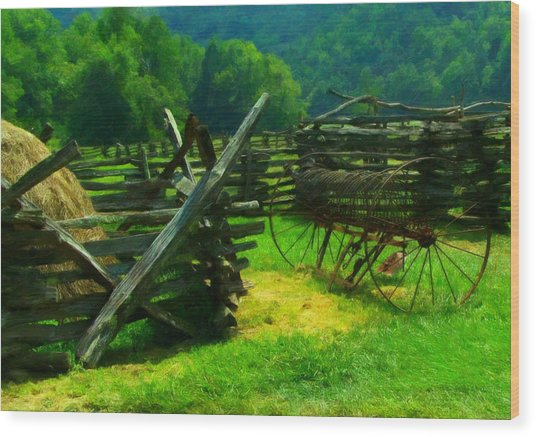 Smoky Mountain Farm 1900s Wood Print