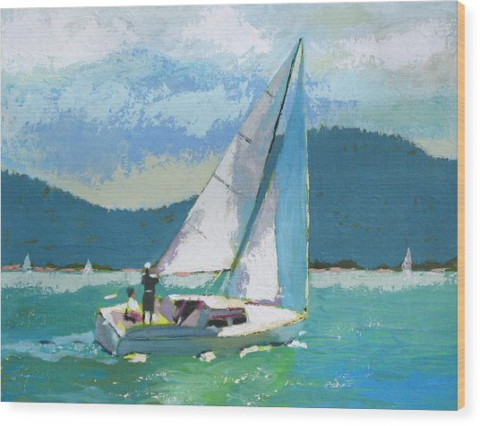 Smooth Sailing Wood Print by Robert Bissett
