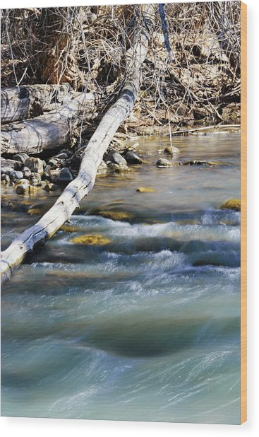 Smooth Water Wood Print
