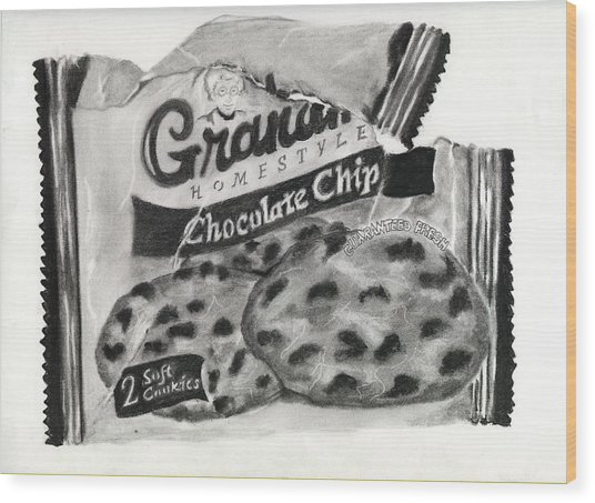 Snack Time Wood Print by Penny Everhart