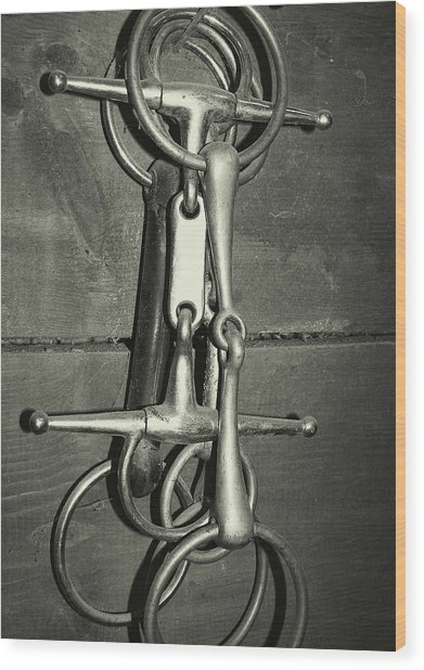 Snaffle Bits Tack Wood Print by JAMART Photography