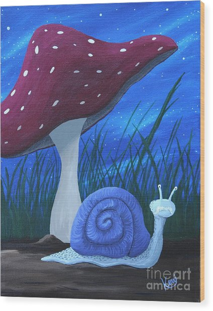 Snail Elliot Wood Print
