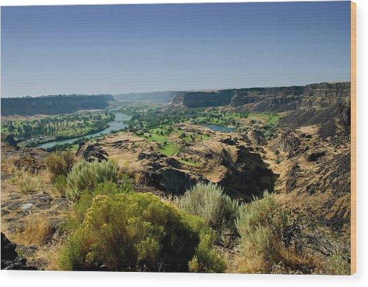 Snake River Canyon Wood Print by Brendon Bradley