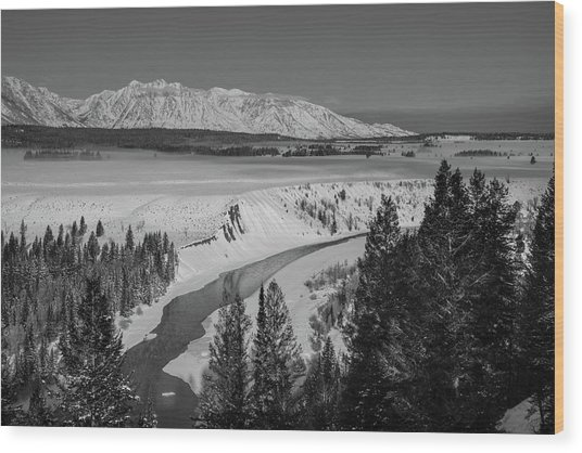 Snake River View Wood Print