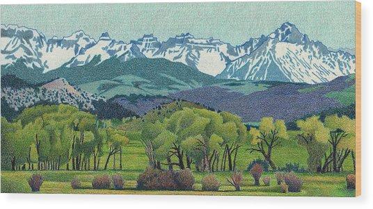 Sneffels Range Spring Wood Print