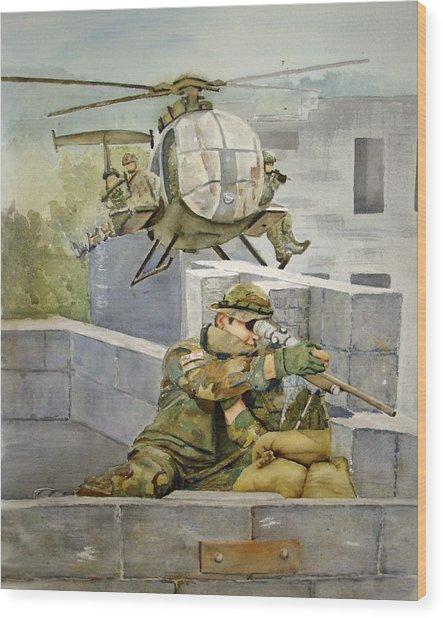 Sniper Military Tribute Wood Print by Kerra Lindsey