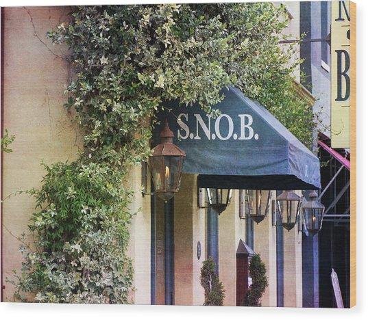 Snob Wood Print