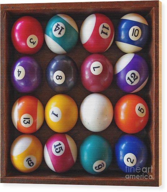 Snooker Balls Wood Print