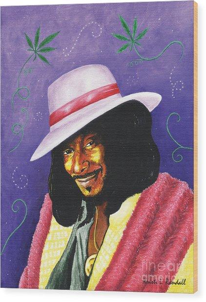 Snoop Dogg Wood Print by Kristi L Randall