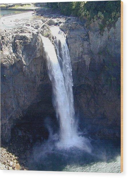 Snoqualmie Falls Wood Print by Rick Repp