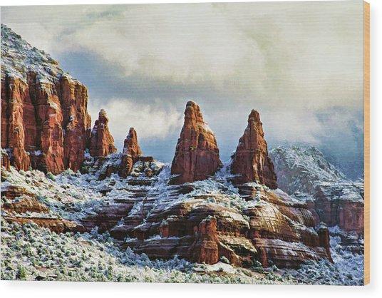 Snow 04-002 Wood Print
