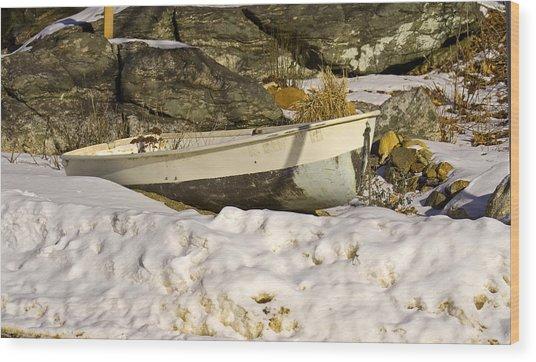 Snow Bound Wood Print by Gerald Mitchell