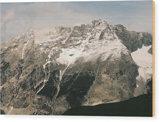 Snow Capped Austrian Summer Wood Print by Patrick Murphy