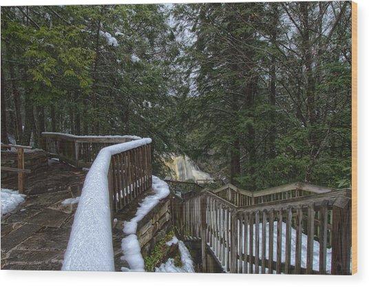 Snow Covered Path Wood Print