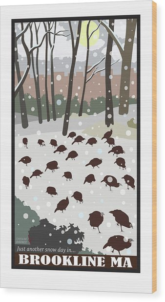 Snow Day Wood Print