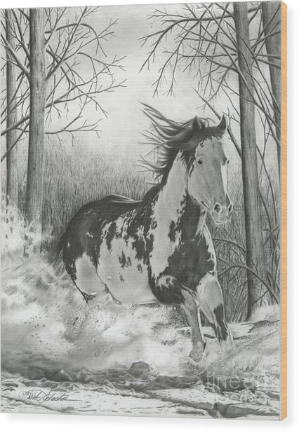 Snow Driftin' Wood Print