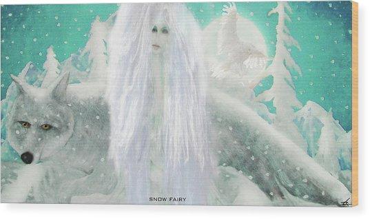 Snow Fairy Wood Print