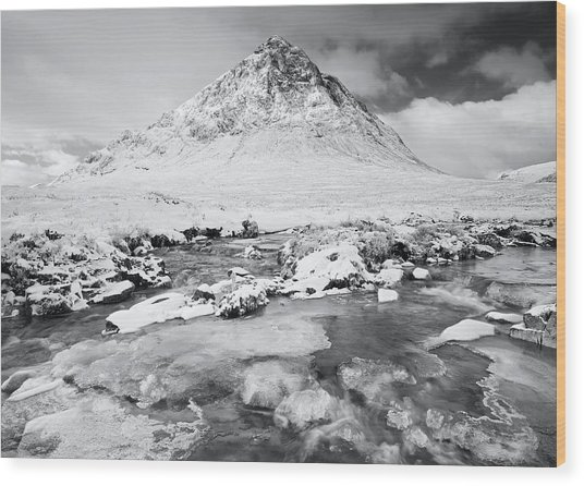 Snow In Glencoe Wood Print