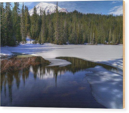 Snow-melt Revelations Wood Print