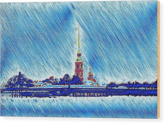 Snow Morning Wood Print by Yury Bashkin