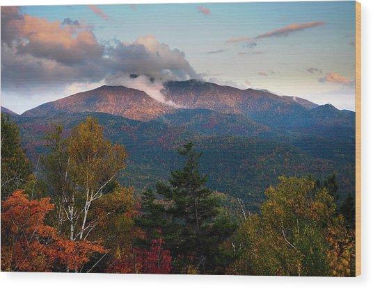 Giant Mt Sunset Wood Print