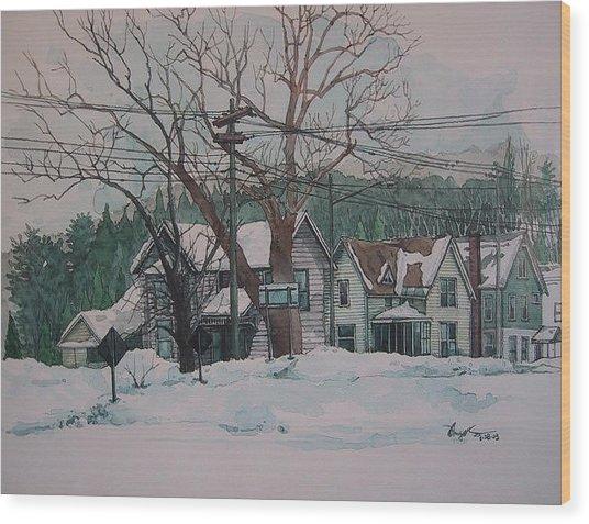 Snow Next Door Wood Print by Richard Ong