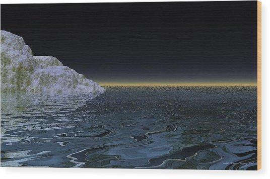 Snow On The Black Sea Wood Print by Wayne Bonney