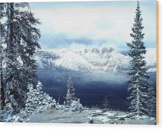 Snow On The High Uintas Wood Print
