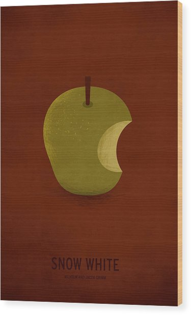 Snow White Wood Print