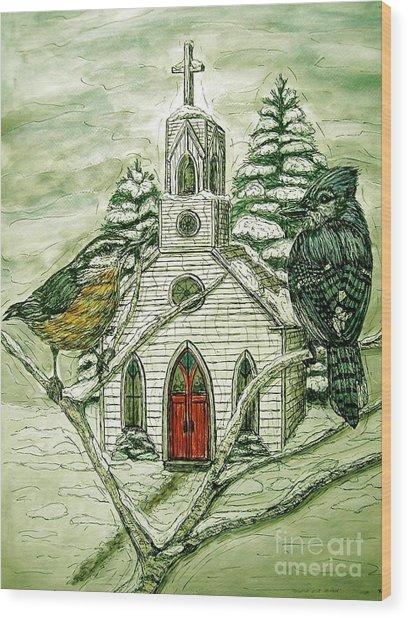 Snowbirds Visit St. Paul Wood Print