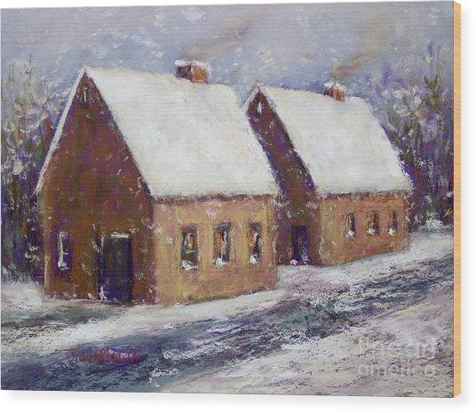 Snowbound Wood Print by Joyce A Guariglia