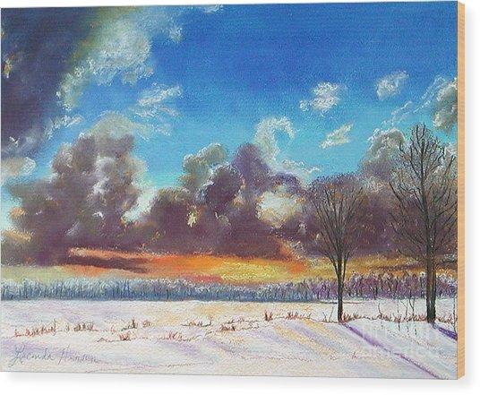 Snowfield IIi Wood Print by Lucinda  Hansen