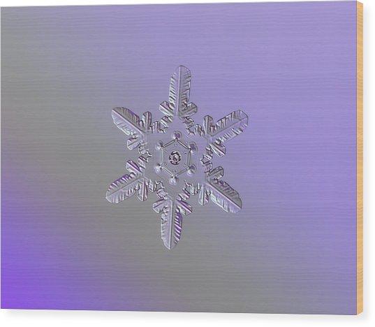 Snowflake Photo - Heart-powered Star Wood Print