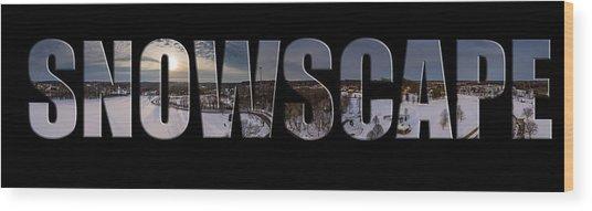 Snowscape Wood Print
