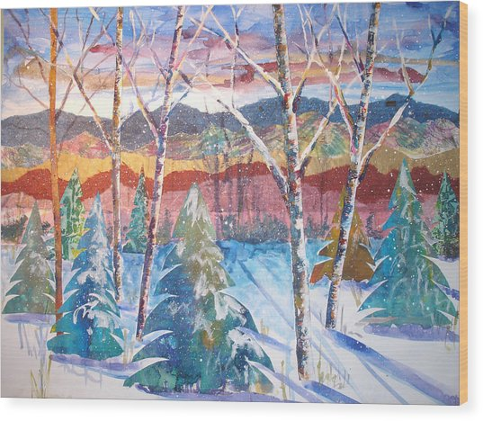 snowy Afternoon Wood Print by Joyce Kanyuk