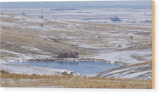 Snowy Hills 1 Wood Print