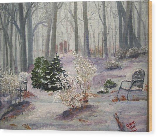 Snowy Morning Wood Print by Gloria Condon