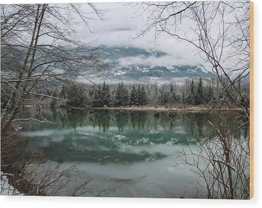 Snowy Reflection Wood Print