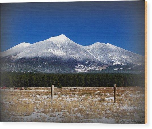 Snowy San Francisco Peaks Wood Print