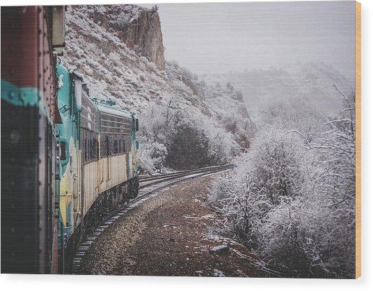 Snowy Verde Canyon Railroad Wood Print