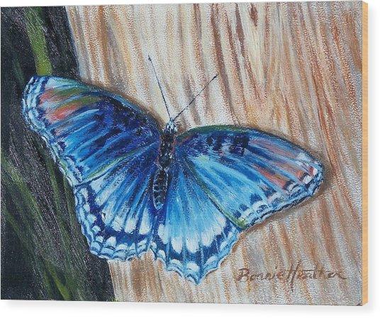 So Blue Wood Print