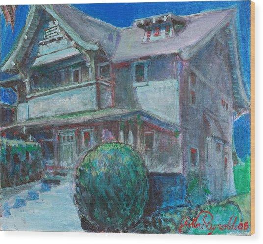 So Cal House Wood Print