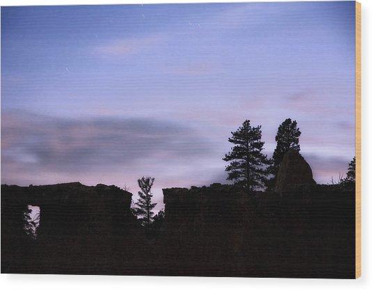 So It Began Wood Print by Mike McMurray