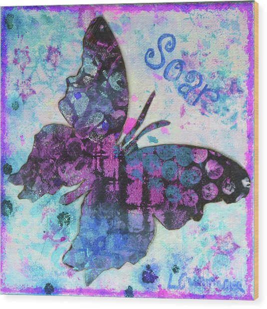 Soar Butterfly Wood Print