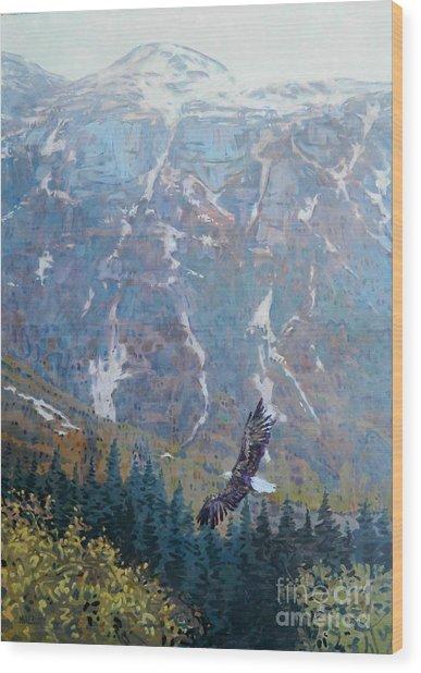 Soaring Eagle Wood Print