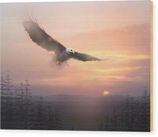 Soaring Free Wood Print