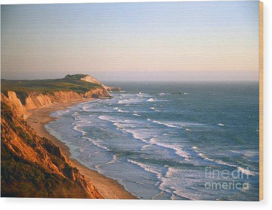 Socal Sunset Ocean Front Wood Print